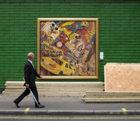 Performance de Street Art avec l'artiste plasticien Vincent Richeux
