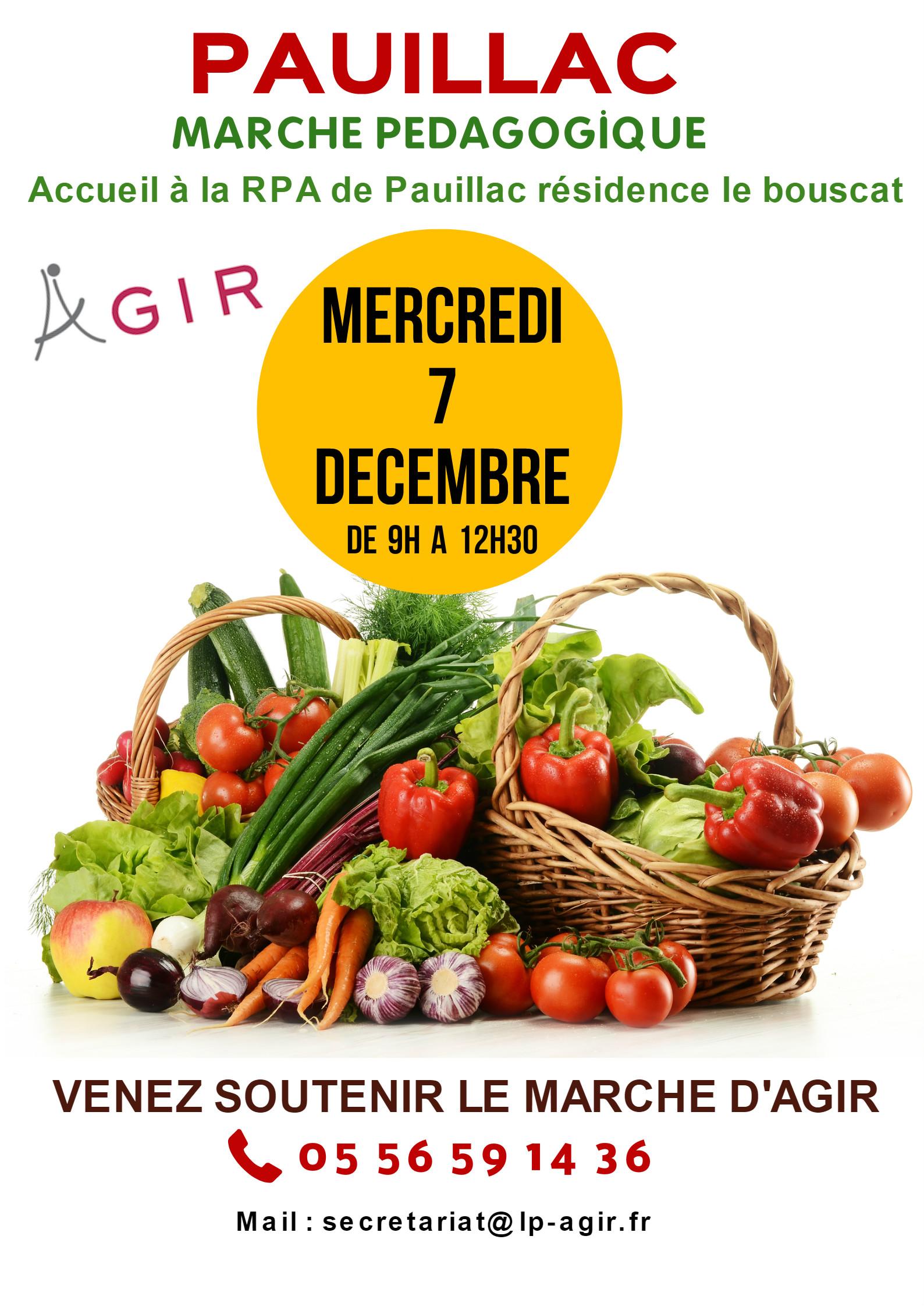 Marché Pédagogique pour la Valorisation des Produits Médocains a la résidence Le Bascouat