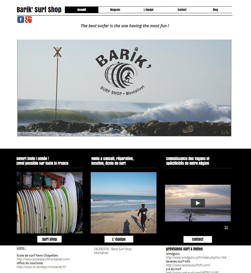 Barik' Surf Shop Montabeach !